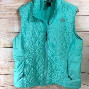 North Face Quilted Puffer Vest Teal XL Womens